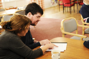 A young person receiving Learning support at the Princes Centre